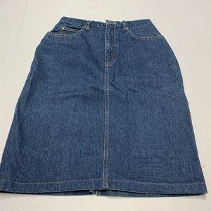 Liz Claiborne Size 6P Jeans Skirt